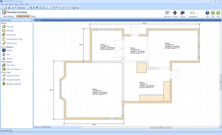 Heatcad Heat Loss Calculation Software